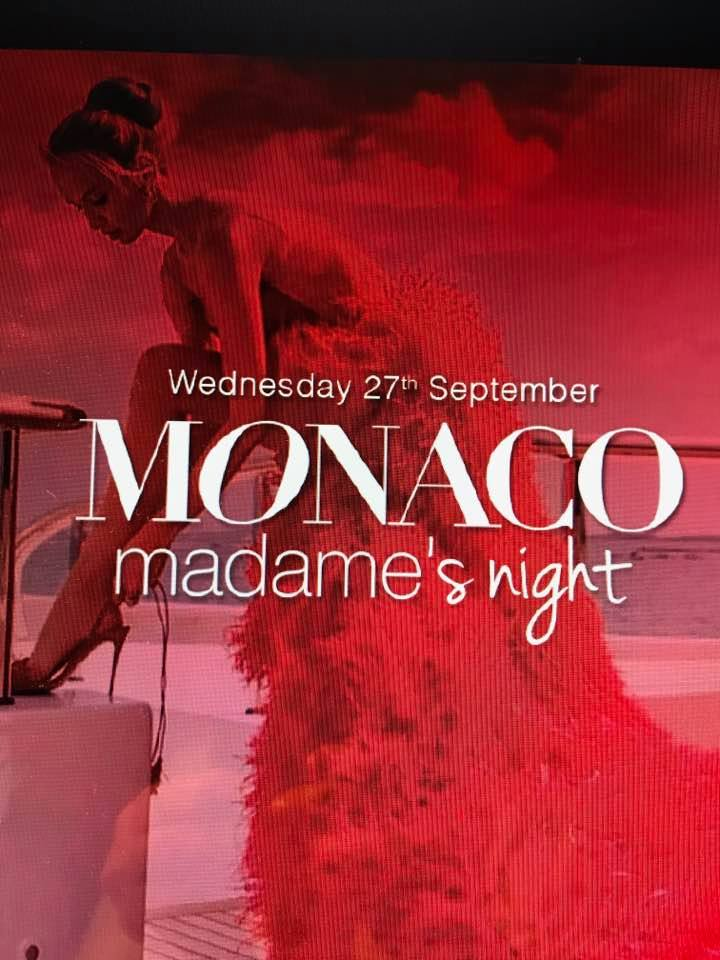 MONACO Madame's NIGHT, Amber Lounge; Monaco 27 septembre 2017